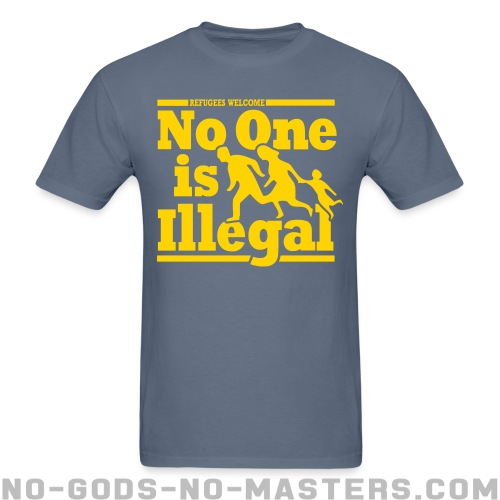Refugees welcome - no one is illegal - Anti-fascista Camiseta