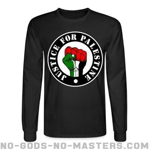 Justice for palestine - Anti-Guerra Mangas Largas