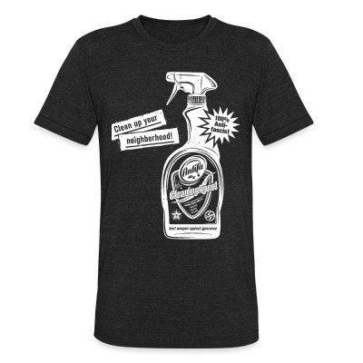 Camiseta Local Clean up your neighborhood! Antifa cleaning agent 100% anti-fascist