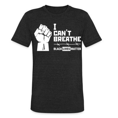 Camiseta Local I Can't Breathe - Black Lives Matter