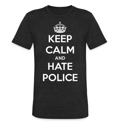 Camiseta Local Keep calm and hate police