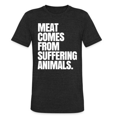 Camiseta Local Meat comes from suffering animals