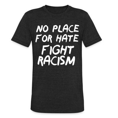 Camiseta Local No place for hate fight racism
