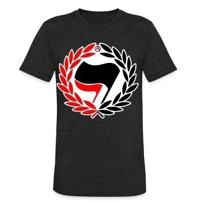 Camiseta Local Red & Black Antifa Flags