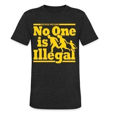 Camiseta Local Refugees welcome - no one is illegal