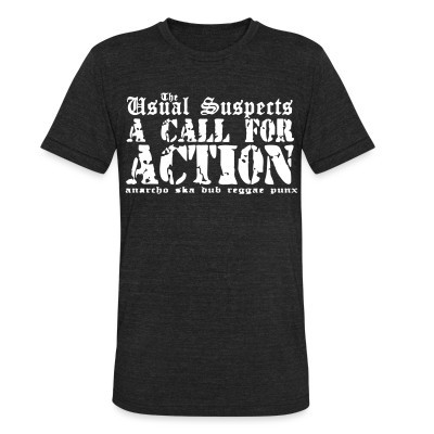 Camiseta Local The Usual Suspects - A call for action - anarcho ska dub reggae punx