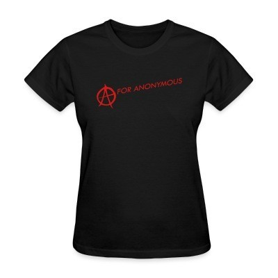 Camiseta Mujer A for anonymous