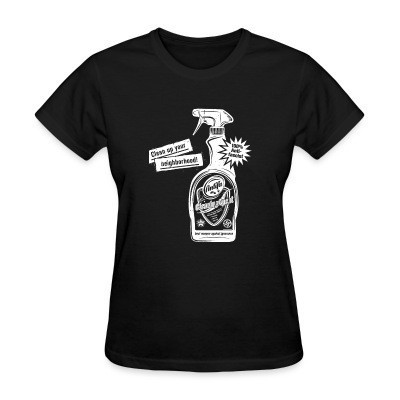 Camiseta Mujer Clean up your neighborhood! Antifa cleaning agent 100% anti-fascist
