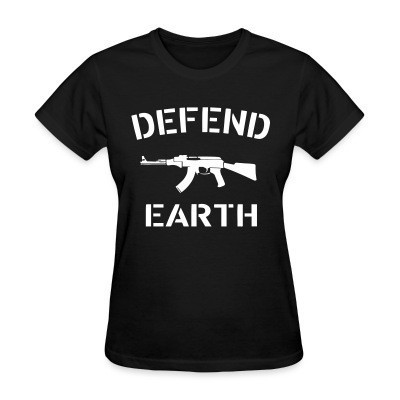 Camiseta Mujer Defend earth