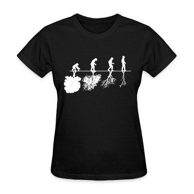 Camiseta Mujer Human evolution and the destruction of the environment