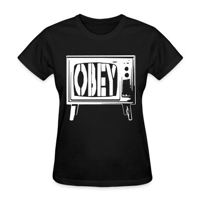 Camiseta Mujer Obey TV