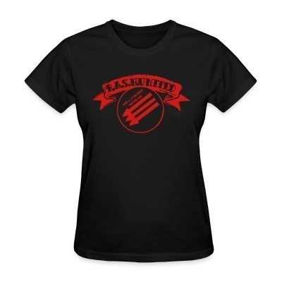 Camiseta Mujer R.A.S.H United - Red & Anarchist Skinheads