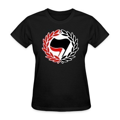 Camiseta Mujer Red & Black Antifa Flags