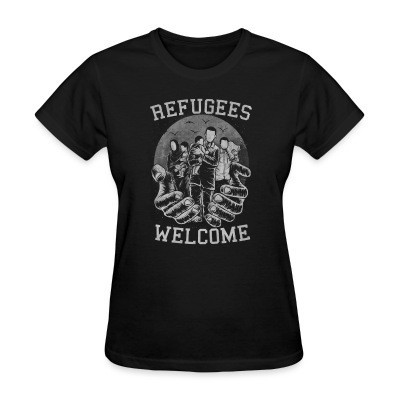 Camiseta Mujer Refugees Welcome