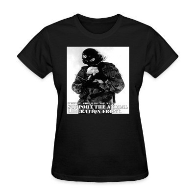 Camiseta Mujer Support the animal liberation front