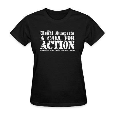 Camiseta Mujer The Usual Suspects - A call for action - anarcho ska dub reggae punx