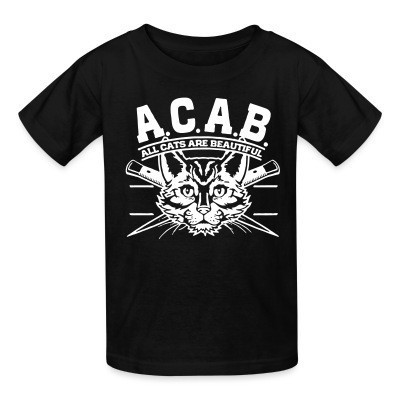 Camiseta Niño A.C.A.B. All Cats Are Beautiful