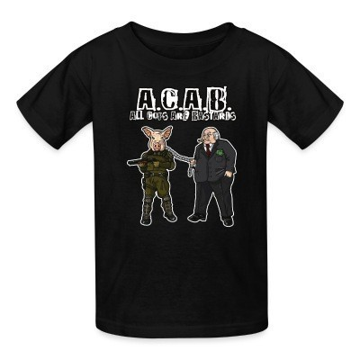 Camiseta Niño A.C.A.B All Cops Are Bastards
