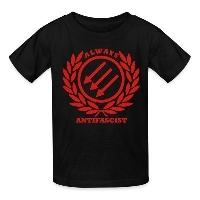 Camiseta Niño Always antifascist