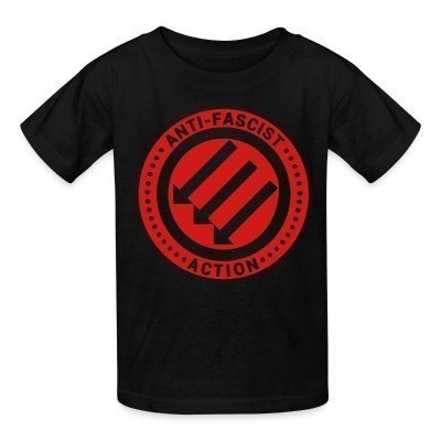 Camiseta Niño Anti-fascist action