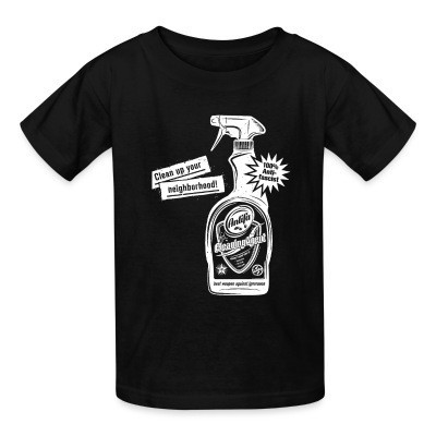 Camiseta Niño Clean up your neighborhood! Antifa cleaning agent 100% anti-fascist