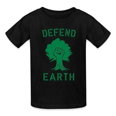Camiseta Niño Defend earth