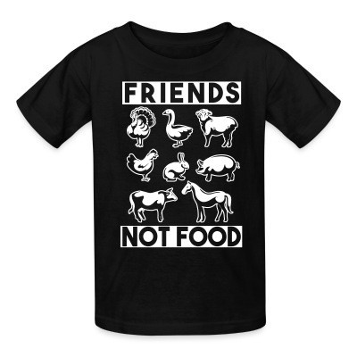 Camiseta Niño Friends not food