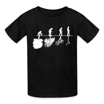 Camiseta Niño Human evolution and the destruction of the environment