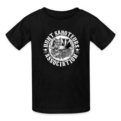 Camiseta Niño Hunt saboteurs association