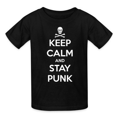 Camiseta Niño Keep calm and stay punk