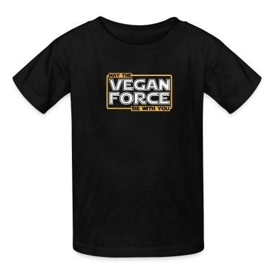Camiseta Niño May the vegan force be with you