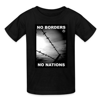 Camiseta Niño No borders no nations