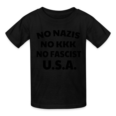 Camiseta Niño No nazis no kk no fascists USA