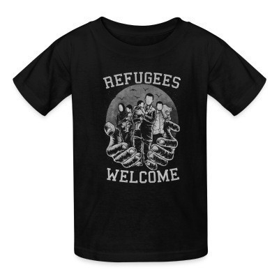 Camiseta Niño Refugees Welcome