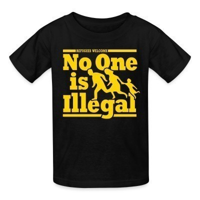 Camiseta Niño Refugees welcome - no one is illegal