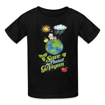 Camiseta Niño Save the planet go vegan