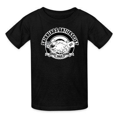 Camiseta Niño Skinheads antifascist - fight nazi scum