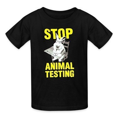 Camiseta Niño Stop animal testing