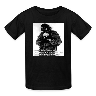Camiseta Niño Support the animal liberation front