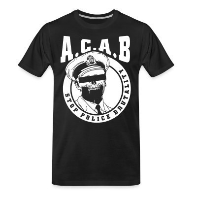Camiseta Organica Acab / Stop police brutality