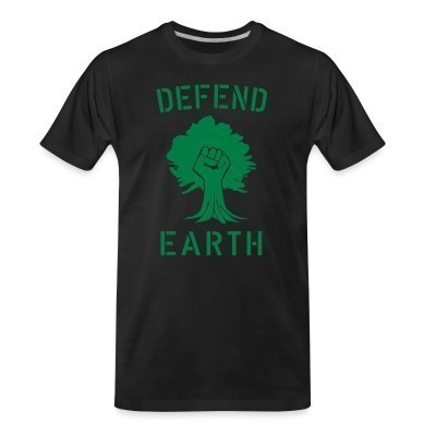 Camiseta Organica Defend earth