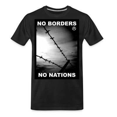 Camiseta Organica No borders no nations