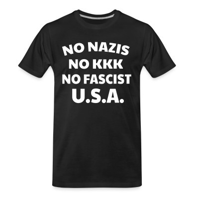 Camiseta Organica No nazis no kk no fascists USA