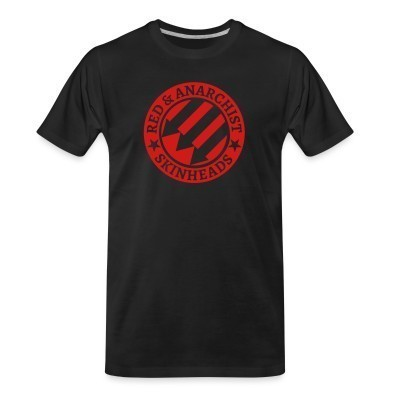 Camiseta Organica Red & anarchist skinheads