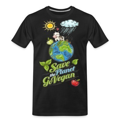 Camiseta Organica Save the planet go vegan