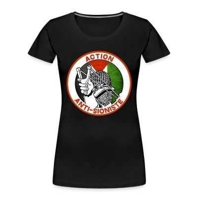 Camiseta Organica Mujer  Action anti-sioniste