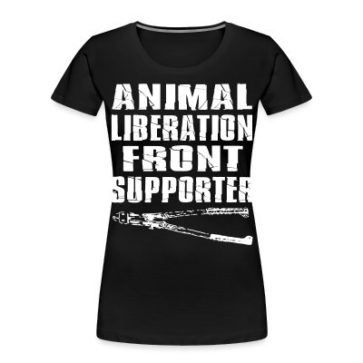 Camiseta Organica Mujer  Animal liberation front supporter
