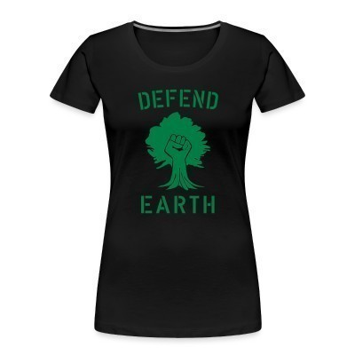 Camiseta Organica Mujer  Defend earth