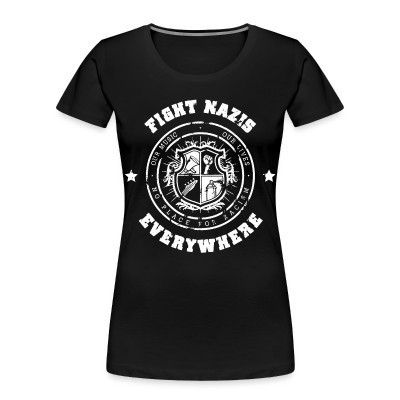 Camiseta Organica Mujer  Fight nazis everywhere - our music, our lives - no place for racism