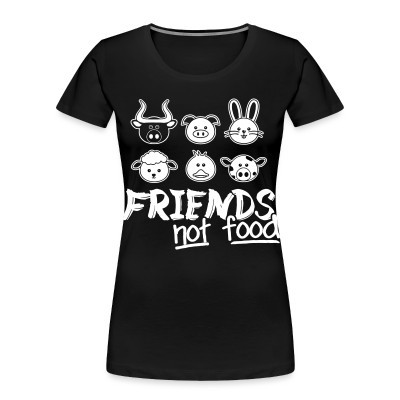 Camiseta Organica Mujer  Friends not food